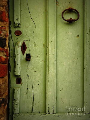 Photograph - Green Door Details by Lainie Wrightson