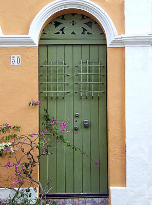 Green Door Art Print by John Rivera