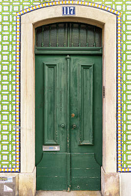 Photograph - Green Door Lisbon Souvenirs by For Ninety One Days