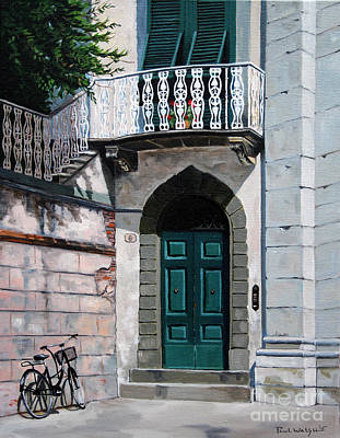 Villa Painting - Green Door by Paul Walsh
