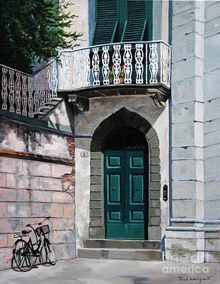 Green Door Original by Paul Walsh