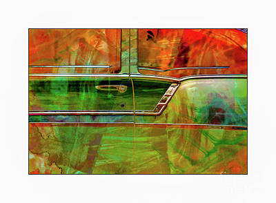 Photograph - Green Door Vintage by Perry Webster