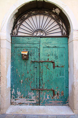 Photograph - Green Door With Mail by David Beebe