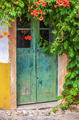 Painting - Green Door With Vine by David Letts