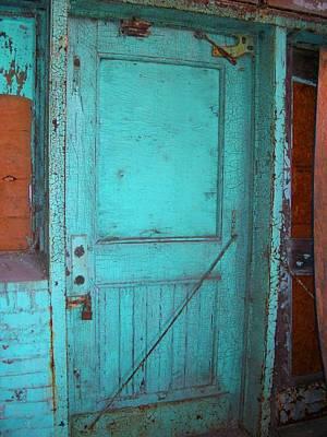 Green Doorway To The Past Art Print