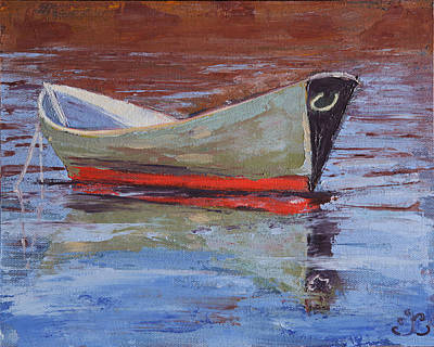 Painting - Green Dory by Trina Teele