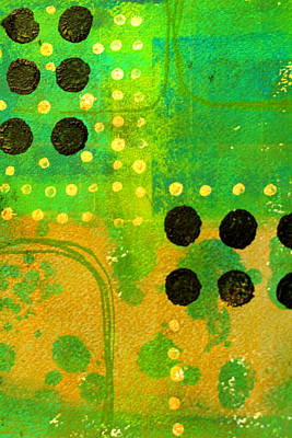Painting - Green Dot by Nancy Merkle