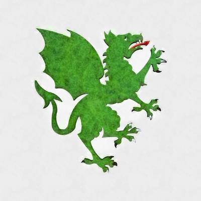 New Culture Painting - Green Dragon By Pierre Blanchard by Pierre Blanchard
