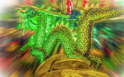 Photograph - Green Dragon by Mark Dunton