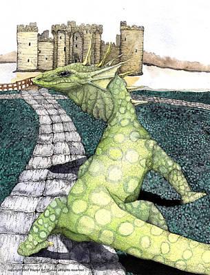Green Dragon Art Print by Preston Shupp