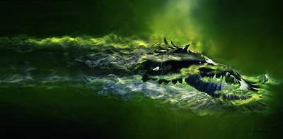 Digital Art - Green Eagle by Sue Masterson