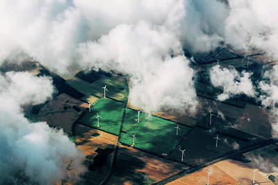 Photograph - Green Energy - Aerial by Thomas Richter