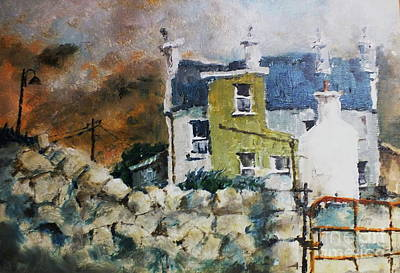 Painting - F 749 Green Gable Kilronan Aran by Val Byrne
