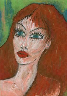 Different Painting - Green Eyed I  by Wojtek Kowalski