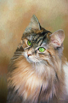 Painting - Green-eyed Kitty - Painted by Ericamaxine Price