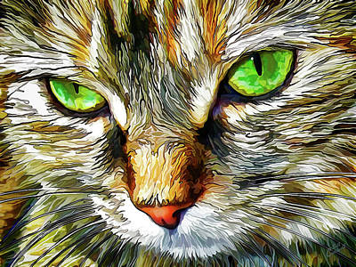 Digital Art - Green-eyed Monster by ABeautifulSky Photography by Bill Caldwell