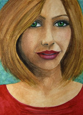 Painting - Green Eyes by Barbara J Blaisdell