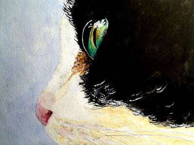 Painting - Green Eyes by Carol Grimes
