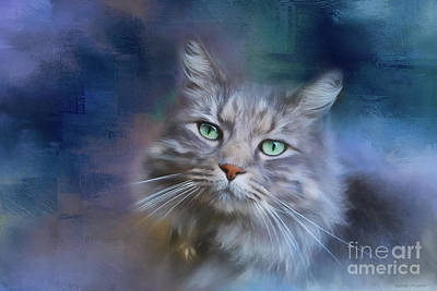 Photograph - Green Eyes - Cat Art By Michelle Wrighton by Michelle Wrighton