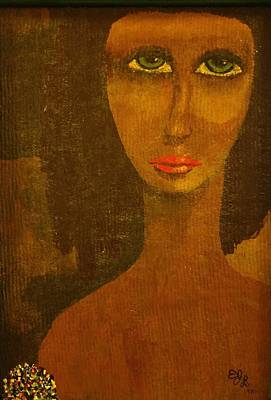 Painting - Green Eyes by Edward Longo