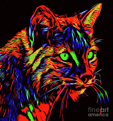 Digital Art - Green Eyes by Kathy Kelly