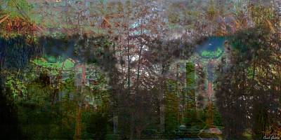 Green Eyes' Reflections Art Print by Carole Guillen