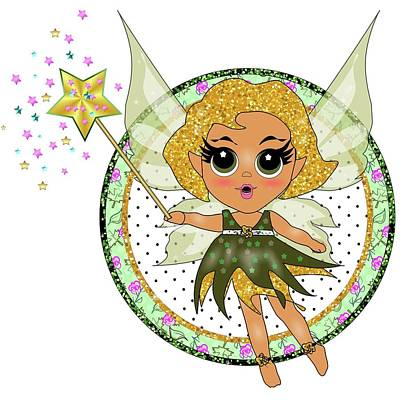 Digital Art - Green Fairy Doll  by Heidi Kriel