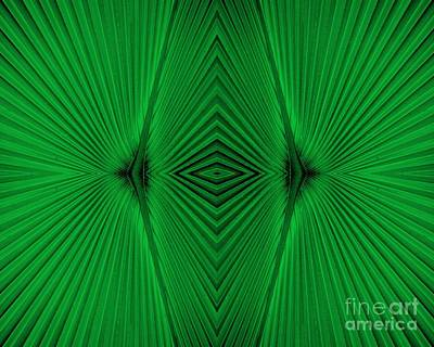 Photograph - Green Fan Abstract by Carol Groenen