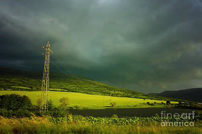 Photograph - Green Field And Lake by Dimitar Hristov