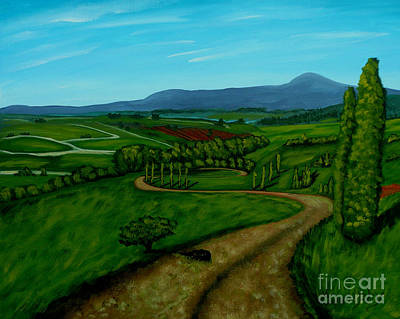 Painting - Green Fields by Anthony Dunphy
