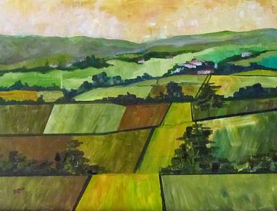 Painting - Green Fields by Barbara O'Toole