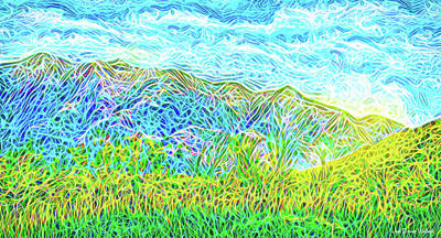 Digital Art - Green Fields Blue Sky - Boulder County Colorado by Joel Bruce Wallach