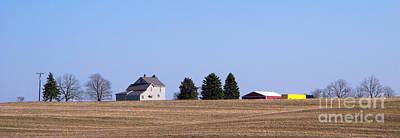 Michigan Farmhouse Photograph - Green Fields Coming by Ann Horn