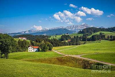 Photograph - Green Fields Of Switzerland by JR Photography
