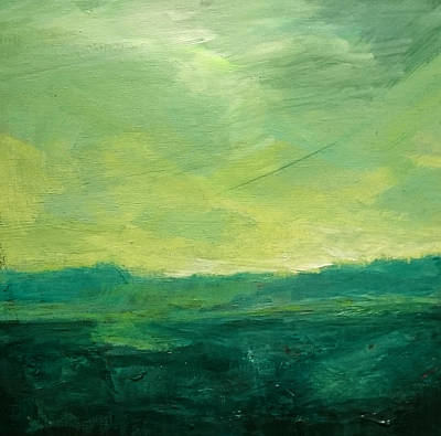 Painting - Green Fields by Paul Mitchell