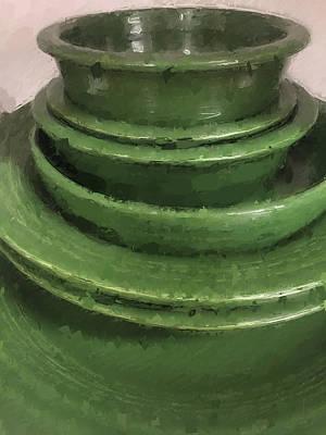 Photograph - Green Fiestaware by Modern Art