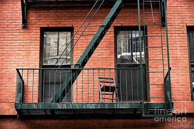 Photograph - Green Fire Escape by John Rizzuto