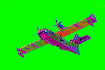 Green Fire Flight  Art Print