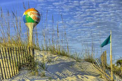 Watertower Photograph - Green Flags On Pensacola Beach by JC Findley