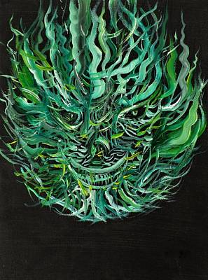 Painting - Green Flame by Fabrizio Cassetta