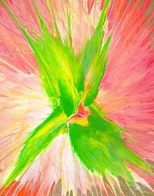 Painting - Green Flower by Lori Kingston