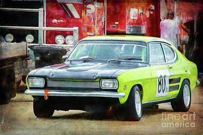 Photograph - Green Ford Capri by Stuart Row
