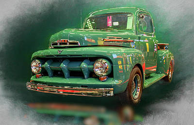 Photograph - Green Ford Pickup by Bill Posner
