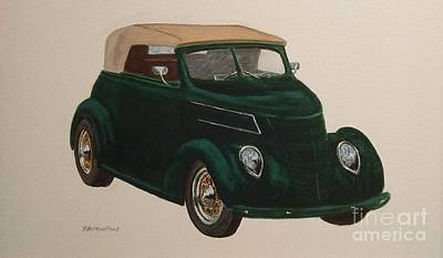 Painting - Green Ford by Stacy C Bottoms