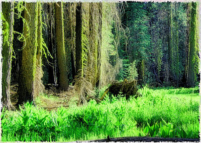 Green Forest Art Print by Michael Cleere