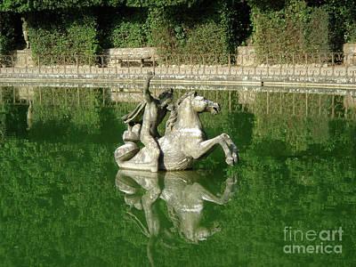Green Fountain Art Print by David Shaffer