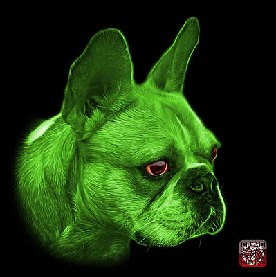 Painting - Green  French Bulldog Pop Art - 0755 Bb by James Ahn