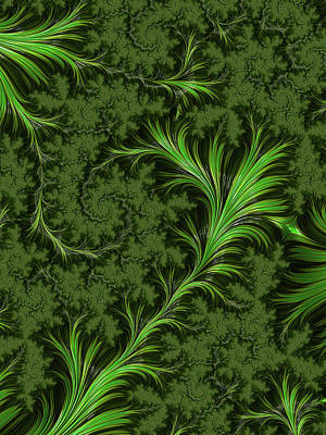 Digital Art - Green Fronds by Rajiv Chopra