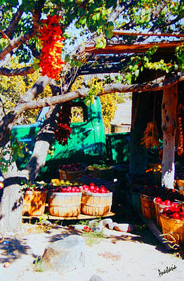 Photograph - Green Fruit Stand Chevy Velarde New Mexico by Anastasia Savage Ealy