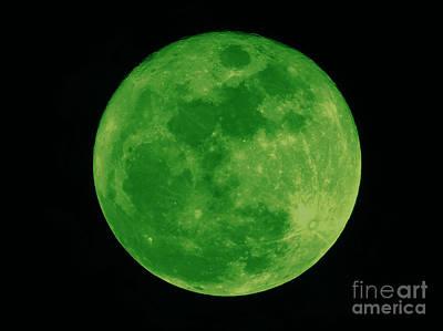 Photograph - Green Full Moon by D Hackett